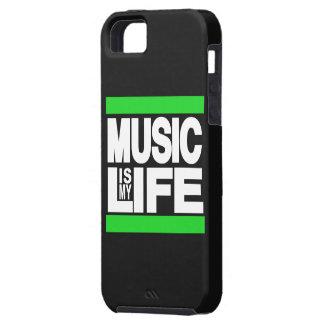 La música es mi verde de la vida iPhone 5 Case-Mate cárcasa