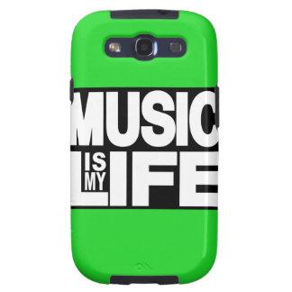 La música es mi verde de la vida galaxy s3 carcasas