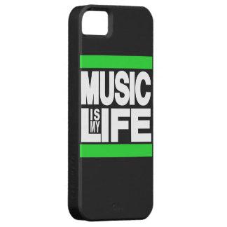 La música es mi verde de la vida iPhone 5 fundas