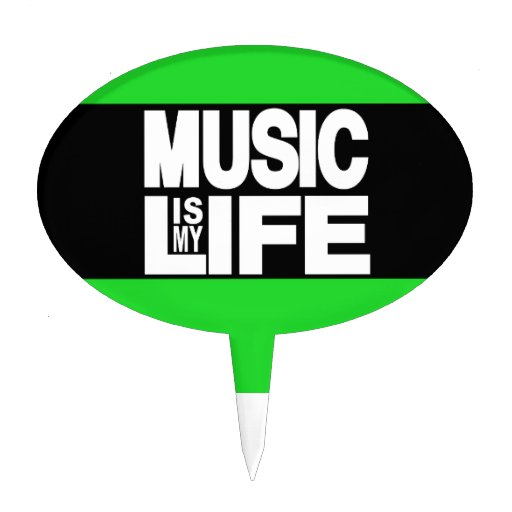 La música es mi verde de la vida palillos de tarta