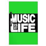 La música es mi verde de la vida pizarras