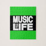 La música es mi verde de la vida puzzles