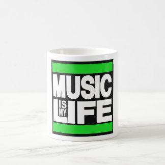 La música es mi verde de la vida taza clásica