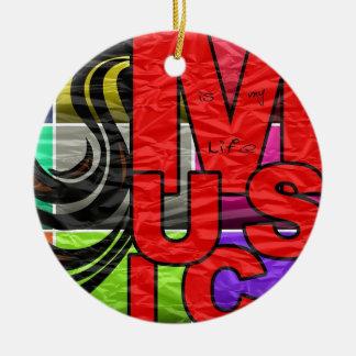 La música es mi vida ornamento para arbol de navidad