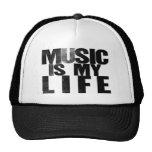 La música es mi vida gorras de camionero