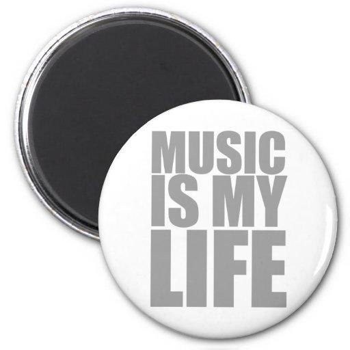 La música es mi vida imán de nevera