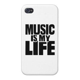 La música es mi vida iPhone 4 cárcasas