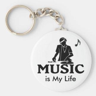 La música es mi vida llavero personalizado