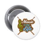 La música es mi vida pins