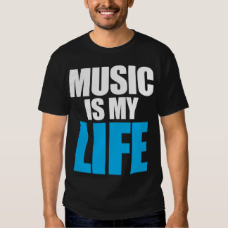 La música es mi vida playeras