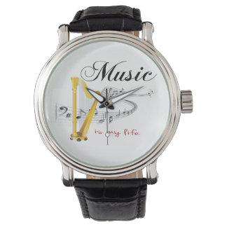 La música es mi vida relojes de mano