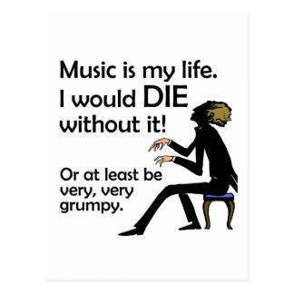 La música es mi vida postal