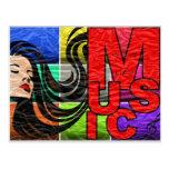 La música es mi vida tarjetas postales