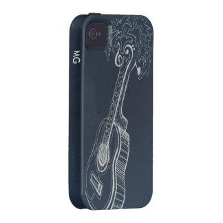 La música es nuestras vacaciones Case-Mate iPhone 4 carcasas