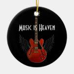 La música es ornamento redondo del navidad del cie adorno de navidad