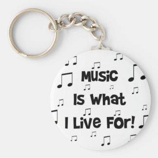 La música es para lo que vivo llavero personalizado