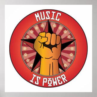 La música es poder posters