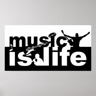 La música es poster de la vida