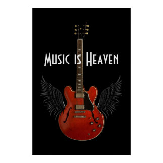 La música es poster del cielo 36 x 24