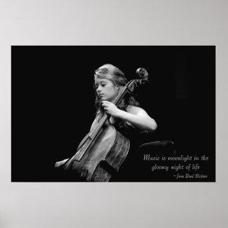 La música es poster/lona/impresión de la bella art póster