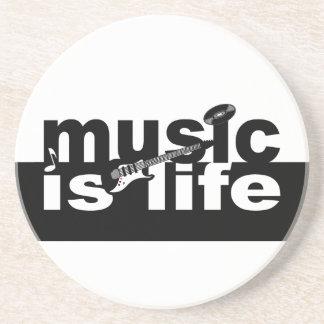 ¡La música es práctico de costa de la vida - perso Posavasos Manualidades