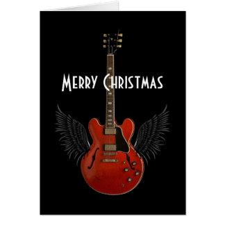 La música es tarjeta de felicitación del navidad d