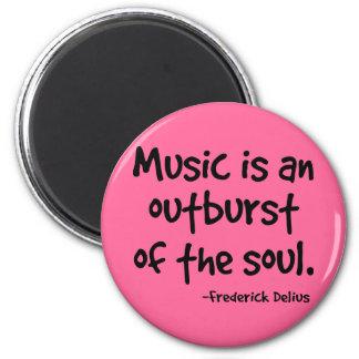 La música es un arrebato del regalo del alma iman de frigorífico