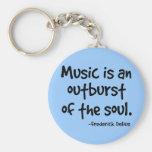 La música es un arrebato del regalo del alma llaveros personalizados