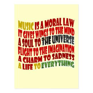 La música es una ley moral tarjeta postal