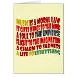 La música es una ley moral tarjetas