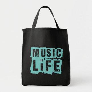 ¡La música es vida! Bolsas Lienzo