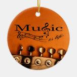 La música es vida con la cabeza de la máquina de ornamento de reyes magos