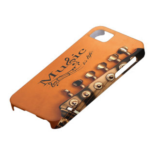 La música es vida con la cabeza de la máquina de l iPhone 5 carcasas