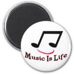 La música es vida iman para frigorífico