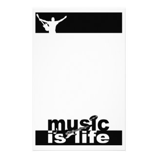 La música es vida inmóvil, personalizar papelería personalizada