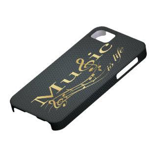 La música es vida iPhone 5 carcasas