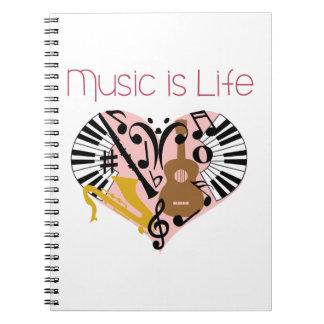 La música es vida libros de apuntes