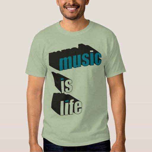La música es vida playeras