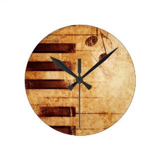 La música es vida relojes de pared
