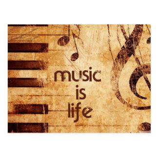 La música es vida postal
