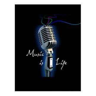 La música es vida postales