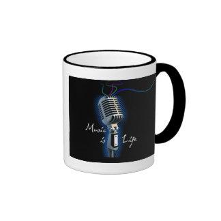La música es vida tazas de café