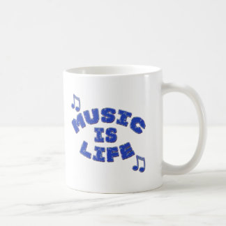 La música es vida taza clásica