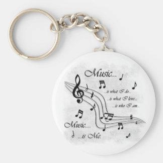 La música es yo llavero redondo tipo pin