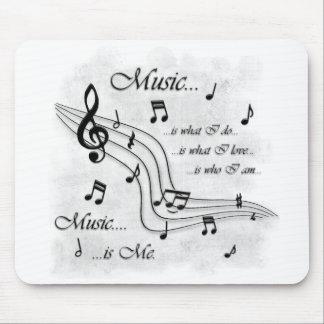 La música es yo alfombrilla de ratón