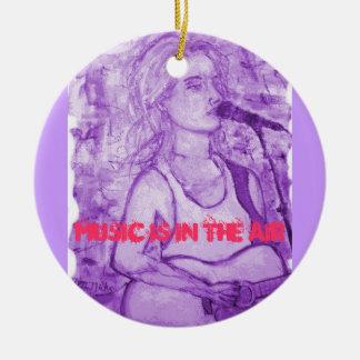 la música está en el aire adorno de navidad