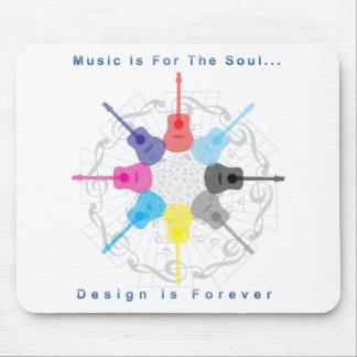La música está para el alma, diseño es forever tapetes de ratón