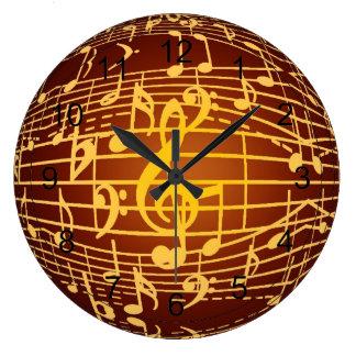 La música está por todas partes - los símbolos mus reloj