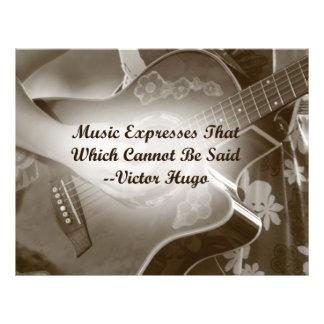 La música expresa ese decir de la foto de la guita tarjetones