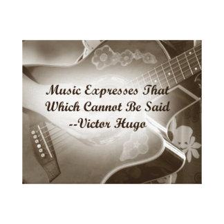 La música expresa ese decir de la foto de la guita impresiones en lienzo estiradas